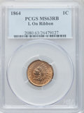 Indian Cents: , 1864 1C L On Ribbon MS63 Red and Brown PCGS. PCGS Population(137/317). NGC Census: (65/284). Mintage: 39,233,712. Numismed...