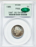 Proof Liberty Nickels: , 1909 5C PR66 PCGS. CAC. PCGS Population (200/34). NGC Census:(262/88). Mintage: 4,763. Numismedia Wsl. Price for problem f...