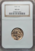 Buffalo Nickels: , 1925 5C MS64 NGC. NGC Census: (362/324). PCGS Population (594/702).Mintage: 35,565,100. Numismedia Wsl. Price for problem ...