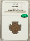 Indian Cents, 1877 1C VF35 NGC. CAC....