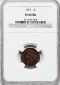 Proof Indian Cents: , 1901 1C PR65 Red and Brown NGC. NGC Census: (120/60). PCGS Population (70/35). Mintage: 1,985. Numismedia Wsl. Price for pr...