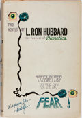 Books:Science Fiction & Fantasy, L. Ron Hubbard. Typewriter in the Sky / Fear. Gnome Press, 1951. First edition, first printing. Light rubbing and to...