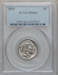 Buffalo Nickels: , 1921 5C MS64 PCGS. PCGS Population (318/421). NGC Census:(213/197). Mintage: 10,663,000. Numismedia Wsl. Price forproblem...