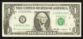 Error Notes:Ink Smears, Fr. 1913-E $1 1985 Federal Reserve Note. Extremely Fine.. ...