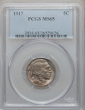 Buffalo Nickels: , 1917 5C MS65 PCGS. PCGS Population (279/158). NGC Census: (124/56).Mintage: 51,424,020. Numismedia Wsl. Price for problem ...