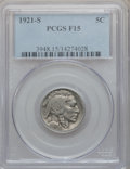 Buffalo Nickels: , 1921-S 5C Fine 15 PCGS. PCGS Population (148/892). NGC Census:(92/621). Mintage: 1,557,000. Numismedia Wsl. Price for prob...