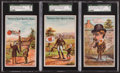 Non-Sport Cards:Sets, 1890's Red Cross Lye Trade Cards SGC-Graded Trio (3). ...