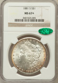 Morgan Dollars: , 1881-S $1 MS67+ NGC. CAC. NGC Census: (4022/196). PCGS Population(1569/97). Mintage: 12,760,000. Numismedia Wsl. Price for...