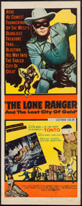 """Movie Posters:Western, The Lone Ranger and the Lost City of Gold (United Artists, 1958). Insert (14"""" X 36""""). Western.. ..."""
