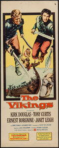 "Movie Posters:Action, The Vikings (United Artists, 1958). Insert (14"" X 36""). Action....."