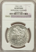 Morgan Dollars, 1904-S $1 -- Improperly Cleaned -- NGC Details. AU. NGC Census:(97/859). PCGS Population (119/1482). Mintage: 2,304,000. N...