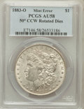 Errors, 1883-O $1 Morgan Dollar -- 50 Degree Counter Clockwise Rotated Dies-- AU58 PCGS....
