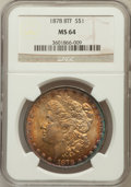 Morgan Dollars: , 1878 8TF $1 MS64 NGC. NGC Census: (1950/375). PCGS Population(2363/517). Mintage: 699,300. Numismedia Wsl. Price for probl...