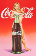 Prints, MEL RAMOS (American, b. 1935). Lola Cola II. Color lithograph. 26-3/4 x 17-1/2 inches (67.9 x 44.5 cm) (image). 34-1/2 x...