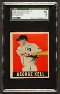 Baseball Cards:Singles (1940-1949), 1948 Leaf George Kell #120 SGC 40 VG 3 - Scarce Short Print HoFer! ...