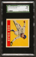 Baseball Cards:Singles (1940-1949), 1948 Leaf Dick Sisler #143 SGC 50 VG/EX 4 - Scarce Short Print! ...