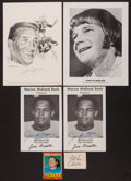 Football Collectibles:Photos, Football Signed Photos & Cards With Johnny Unitas Group of (5). ...