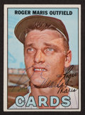 Autographs:Sports Cards, Signed 1967 Topps Roger Maris Baseball Card. ...