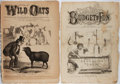 Books:Prints & Leaves, [Periodicals]. Group of Two 19th Century Periodicals. 1862-1872.Both issues somewhat tattered with toning and foxing. About...