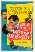 "Movie Posters:Romance, Roman Holiday (Paramount, 1953). One Sheet (27"" X 41""). Romance....."
