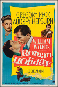 "Roman Holiday (Paramount, 1953). One Sheet (27"" X 41""). Romance"