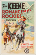 "Movie Posters:Western, Romance of the Rockies (Monogram, 1937). One Sheet (27"" X 41"").Western.. ..."