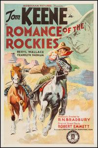 "Romance of the Rockies (Monogram, 1937). One Sheet (27"" X 41""). Western"