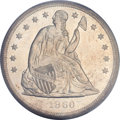 Seated Dollars, 1860-O $1 MS63 PCGS Secure....