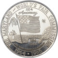 Expositions and Fairs, (1964-1965) Maryland World's Fair Commission Platinum Medal MS66NGC....
