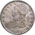 Bust Half Dollars, 1827/6 50C MS64 PCGS Secure. CAC. O-102, R.1....