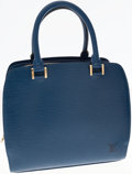 Luxury Accessories:Bags, Louis Vuitton Blue Epi Leather Pont-Neuf Top Handle Bag. ...