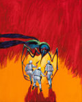 Pulp, Pulp-like, Digests, and Paperback Art, JACK GAUGHAN (American, 1930-1985). One Against the Legion,paperback cover, 1967. Acrylic on canvas board. 20 x 16 in....