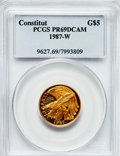 Modern Issues: , 1987-W G$5 Constitution Gold Five Dollar PR69 Deep Cameo PCGS. PCGSPopulation (14639/1859). NGC Census: (7902/8164). Minta...