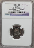 Bust Dimes: , 1825 10C -- Improperly Cleaned -- NGC Details. XF. JR-1. NGCCensus: (2/82). PCGS Population (5/64). Mintage: 410,000. Num...