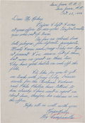 Autographs:Letters, 1946 Roy Campanella Handwritten Letter to Branch Rickey RegardingBlack Prospects....