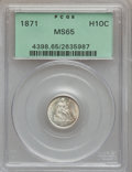 Seated Half Dimes: , 1871 H10C MS65 PCGS. PCGS Population (26/24). NGC Census: (31/21).Mintage: 1,873,960. Numismedia Wsl. Price for problem fr...