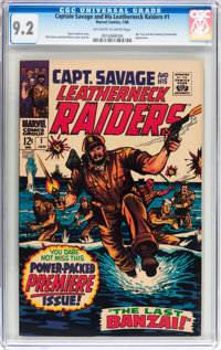 Captain Savage and His Leatherneck Raiders #1 (Marvel, 1968) CGC NM- 9.2 Off-white to white pages