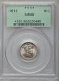Barber Dimes: , 1912 10C MS65 PCGS. PCGS Population (141/46). NGC Census: (152/40).Mintage: 19,350,000. Numismedia Wsl. Price for problem ...