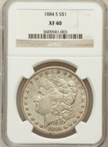 Morgan Dollars: , 1884-S $1 XF40 NGC. NGC Census: (196/5966). PCGS Population(299/5396). Mintage: 3,200,000. Numismedia Wsl. Price for probl...