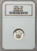 Mercury Dimes: , 1923 10C MS66 Full Bands NGC. NGC Census: (98/29). PCGS Population(167/64). Mintage: 50,130,000. Numismedia Wsl. Price for...