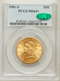 Liberty Eagles, 1901-S $10 MS64+ PCGS. CAC. PCGS Population (3477/1121). NGCCensus: (3782/1511). Mintage: 2,812,750. Numismedia Wsl. Price...