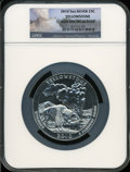 Modern Bullion Coins, 2010 25C Yellowstone Five Ounce Silver Gem Uncirculated NGC. NGCCensus: (176/748). PCGS Population (0/163). The imag...