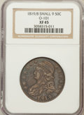 Bust Half Dollars, 1819/8 50C Small 9 XF45 NGC. O-101. NGC Census: (43/192). PCGSPopulation (21/117). Numismedia Wsl. Price for problem free...