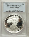 Modern Bullion Coins, 1994-P $1 One Ounce Silver Eagle PR70 Deep Cameo PCGS. PCGSPopulation (145). NGC Census: (356). Mintage: 372,168. Numismed...