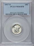 Mercury Dimes: , 1917-S 10C MS64 Full Bands PCGS. PCGS Population (174/179). NGCCensus: (76/44). Mintage: 27,330,000. Numismedia Wsl. Price...