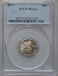 Barber Dimes: , 1911 10C MS63 PCGS. PCGS Population (217/490). NGC Census:(174/422). Mintage: 18,870,544. Numismedia Wsl. Price for proble...