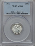Barber Dimes: , 1911 10C MS64 PCGS. PCGS Population (272/218). NGC Census:(233/189). Mintage: 18,870,544. Numismedia Wsl. Price for proble...