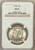 Walking Liberty Half Dollars: , 1938 50C MS65 NGC. NGC Census: (749/316). PCGS Population(1164/586). Mintage: 4,118,152. Numismedia Wsl. Price forproblem...