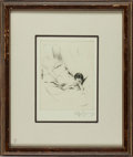Original Comic Art:Miscellaneous, Willy Pogany Reclining Female Nude Signed Drypoint Fine ArtPrint Original Art (undated)....