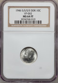 Roosevelt Dimes, 1946-S/S/S/S 10C MS64 Full Bands NGC. VP-002. NGC Census: (23/580).PCGS Population (16/825). Mintage: 27,900,000....